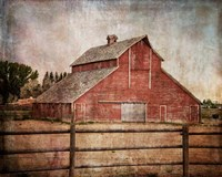 York Road Barn Framed Print