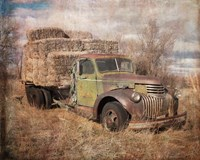 Vintage Hay Truck Fine Art Print