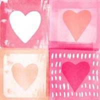 Four Hearts Fine Art Print