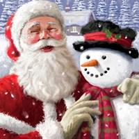 Santa & Friends Fine Art Print