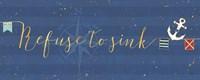 Underlined Nautical VIII Fine Art Print