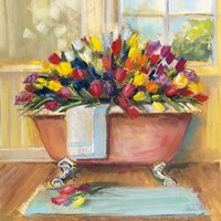 Bathtub Bouquet II Fine Art Print
