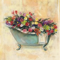 Bathtub Bouquet I Fine Art Print