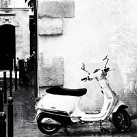 Paris Vespa BW Fine Art Print
