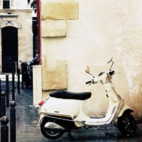 Paris Vespa Color Fine Art Print