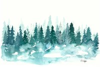 Blue Winter Forest Fine Art Print