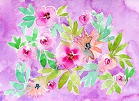 Floral with Purple Background Fine Art Print