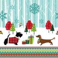 Winter Pet Scene Fine Art Print