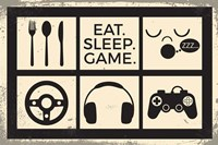 Eat Sleep Game Fine Art Print