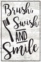 Brush, Swish, Smile Fine Art Print