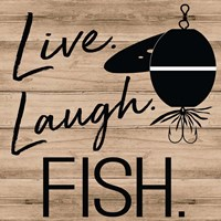 Live Laugh Fish Fine Art Print