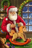 Santa's Magic Touch Fine Art Print