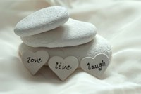 Pebbles Hearts - Live, Laugh, Love Fine Art Print