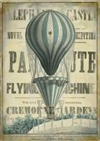 Blue Hot Air Balloon Fine Art Print