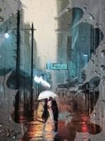 Kiss in a City Window Fine Art Print