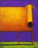 Orange Dog I Fine Art Print