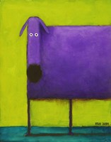Purple Dog I Fine Art Print