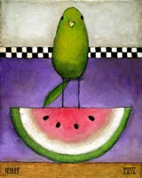 Watermelon Bird Fine Art Print