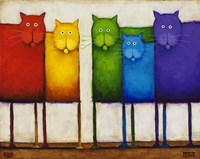 Rainbow Cats Fine Art Print