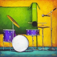 Drum Dog Fine Art Print