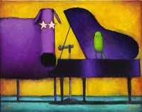 Piano Glam Dog Fine Art Print
