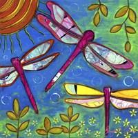 Dragonflies Feast Fine Art Print