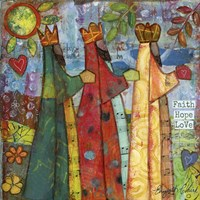 Three Kings Love Faith Hope Fine Art Print