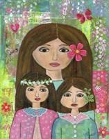 Madre Y 2 Hijas Fine Art Print