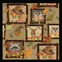 Fall Critters Collage 2 Fine Art Print