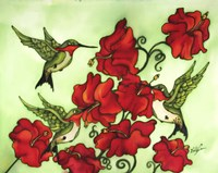 Three Humming Birds Fine Art Print