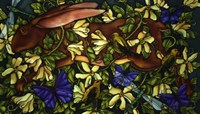 Hare and Goldfinch Fine Art Print