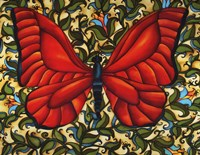 Red Butterfly Fine Art Print