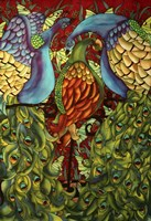 Three Peacocks Fine Art Print