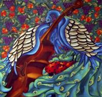 Peacock And Cello Fine Art Print