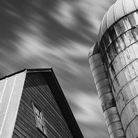 Barn and Silo Fine Art Print