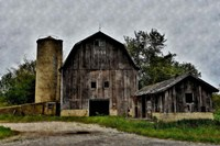 The Old Barn and Silo Fine Art Print