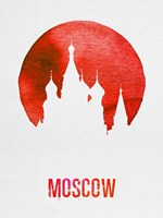 Moscow Landmark Red Fine Art Print