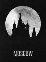 Moscow Landmark Black Fine Art Print