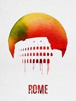 Rome Landmark Red Fine Art Print