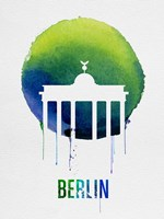 Berlin Landmark Blue Fine Art Print