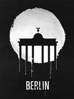 Berlin Landmark Black Fine Art Print