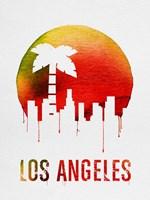 Los Angeles Landmark Red Fine Art Print
