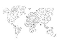 World Wire Map 5 Fine Art Print