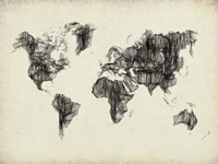 World Map Drawing 2 Fine Art Print