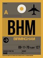 BHM Birmingham Luggage Tag I Fine Art Print