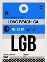 LGB Long Beach Luggage Tag I Fine Art Print