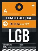 LGB Long Beach Luggage Tag II Fine Art Print