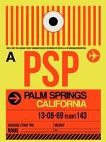 PSP Palm Springs Luggage Tag I Fine Art Print