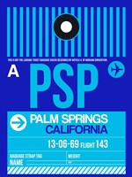 PSP Palm Springs Luggage Tag II Fine Art Print