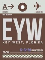 EYW Key West Luggage Tag II Fine Art Print